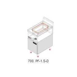 Ohřívač hranolek Kromet, 0,7 kW, s podestavbou s dvířky