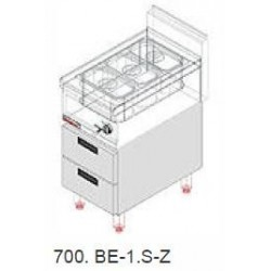 Elektrická vodní lázeň Kromet 0,7 kW, s podestavbou se zásuvkami