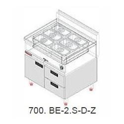 Elektrická vodní lázeň Kromet 1,4 kW, s pod. s dvírky a zásuvkami