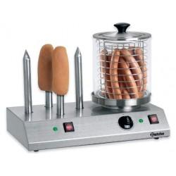 Elektrický ohřívač pro hot dog se 4 trny
